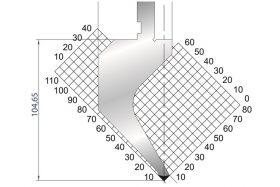 Dao chấn kích thước 104,65×415 Eurostamp JES117300415